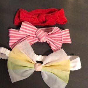 Other - 3 baby headbands